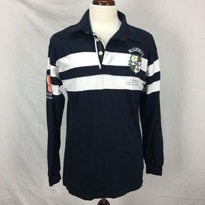 McGuire's Irish Pub Navy Rugby LS Polo Shirt